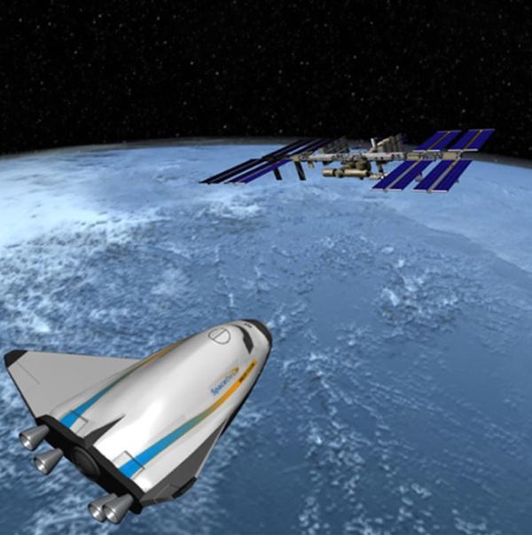 """太空 中国/[图片说明]:""""追梦者""""升力体太空飞机概念图。版权:Sierra..."""