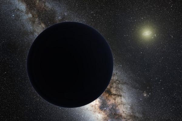 太阳系第9颗行星的艺术概念图