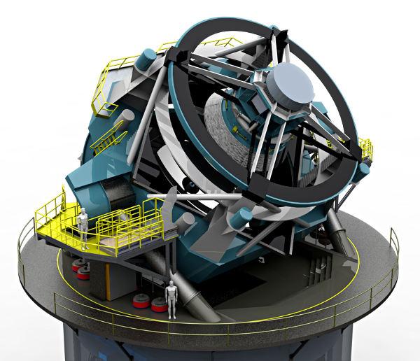 正在智利建造的大口径全天巡视望远镜